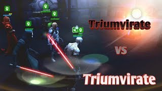Arena Trials: Mixing it up with the Triumvirate  star wars galaxy of heroes swgoh