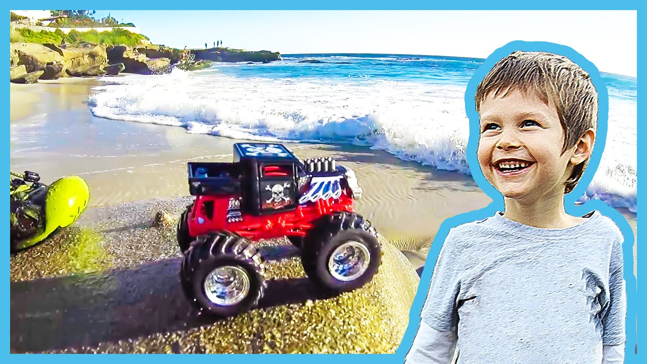 Toy Monster Truck Lost At Sea Youtube