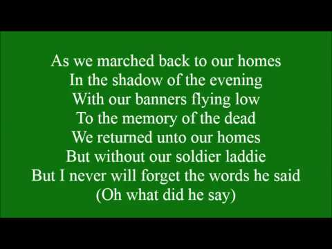 Irish Soldier Laddie with lyrics