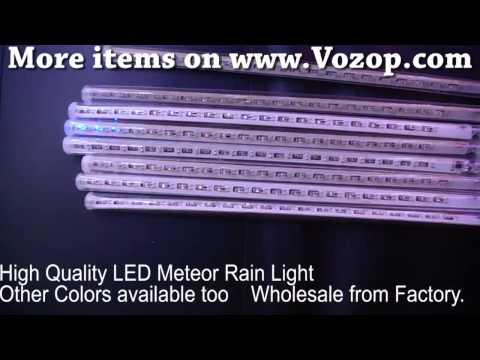 8pcs 30cm Outdoor Led Light Tube Meteor Shower Rain Tre