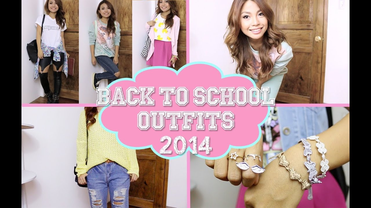 SIMPLE Back To School Outfit Ideas - YouTube