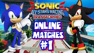 Sonic & All Stars Racing Transformed Wii U - Online Matches #1