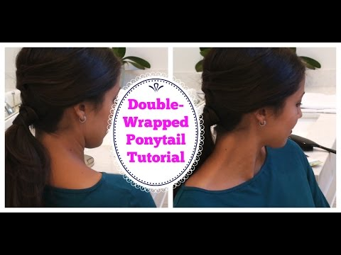 Double- Wrapped Ponytail Tutorial