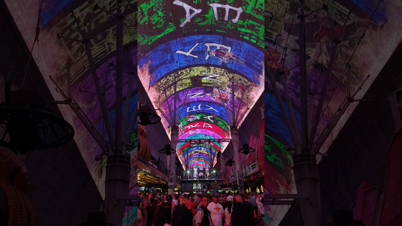 astonishing unique street lighting | Fremont Street Downtown Las Vegas amazing street light ...