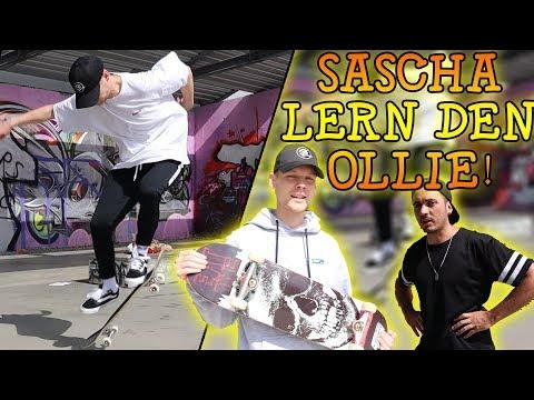 SASCHA macht den Ollie | Youtuber Skaten beibringen