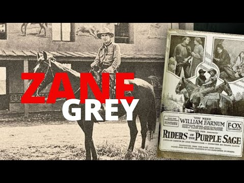 History Of Zane Grey Prolific Writer LEGENDARY Fisherman And Outdoorsman.