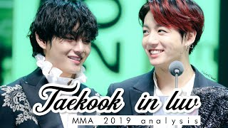 Taekook in Luv on MMA 2019 [ vkook analysis ]