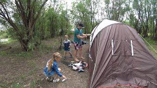 ОТДЫХ НА ПРИРОДЕ С ПАЛАТКОЙ. CAMPING WITH A TENT. #StepFamily #nature #family #tent #природа
