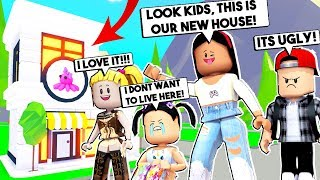 MOVING INTO OUR NEW HOUSE! *MY SPOILED KIDS HATE IT!* - Roblox - Adopt Me
