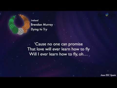 Brendan Murray - Dying to Try (Ireland) [Karaoke Version]