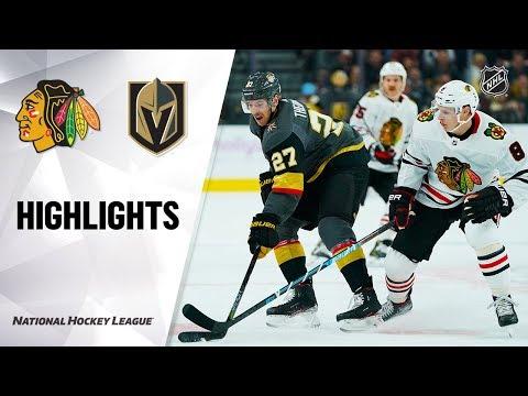 NHL Highlights   Blackhawks @ Golden Knights 11/13/19