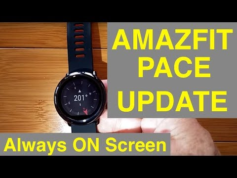 """XIAOMI AMAZFIT PACE Fitness Smartwatch """"Always On"""" Screen: Update Review"""
