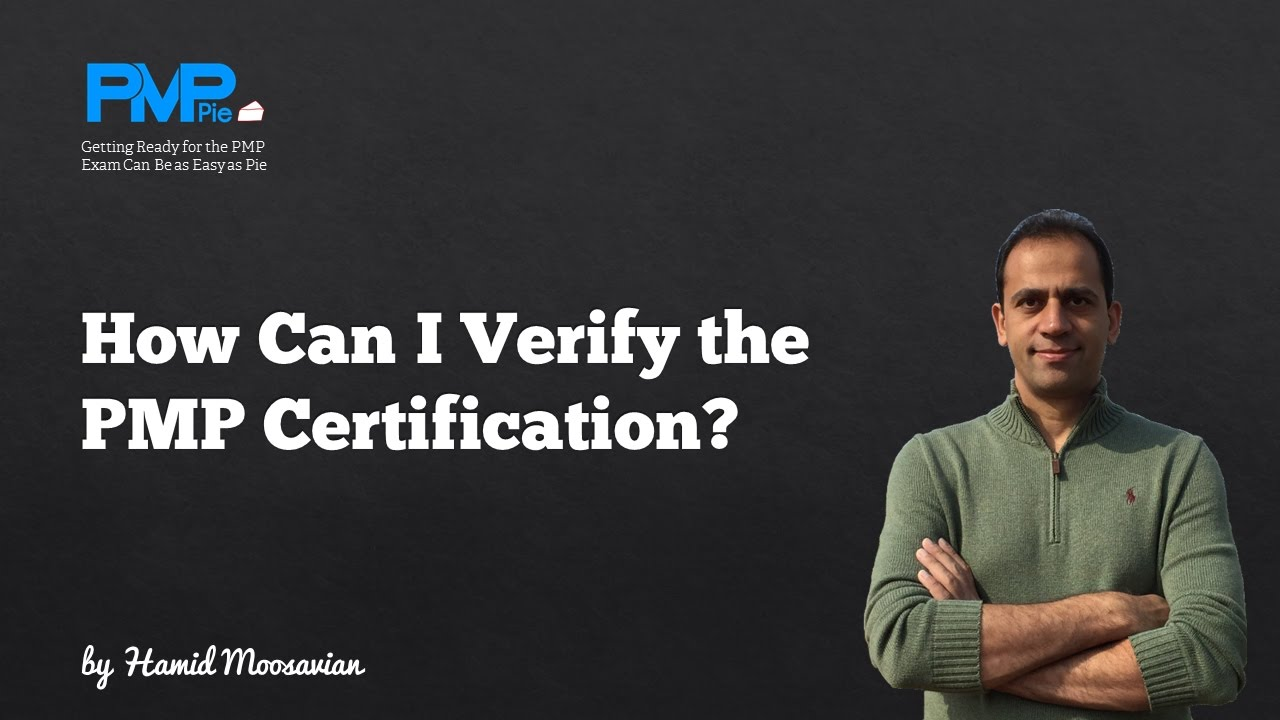 How Can I Verify A Pmp Certification Youtube