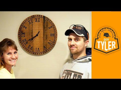 Make a GIANT DIY Pallet Wood Wall Clock