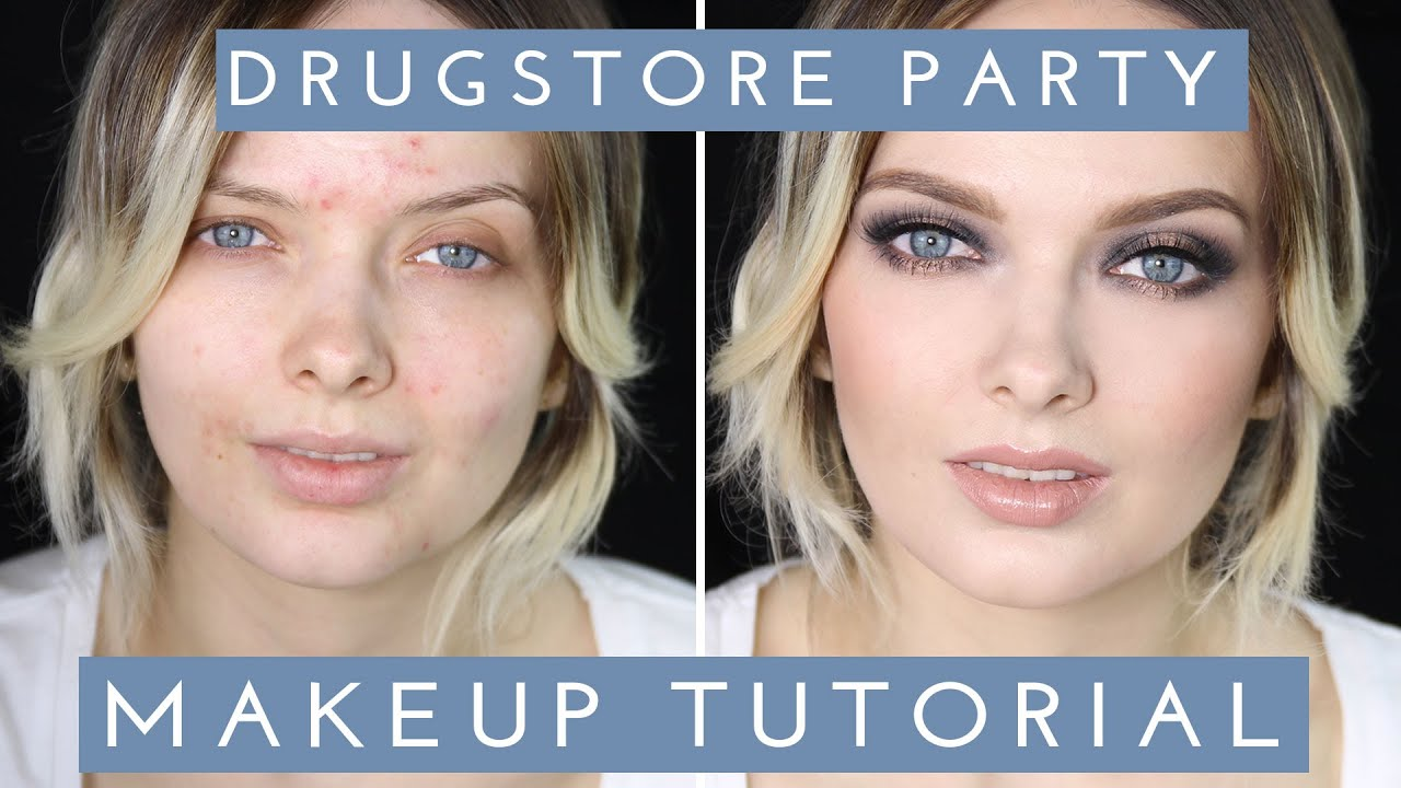 Acne Coverage Drugstore Party Makeup Tutorial Mypaleskin Youtube Bourjois Eyeliner Liner Stylo 61 Ultra Black