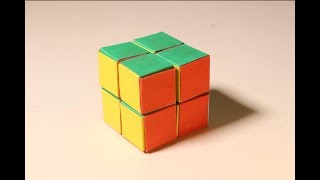 How To Make Paper Rubik's Cube 2x2 At Home
