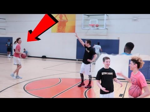 1V1 3 POINT CONTEST VS LAMELO BALL WITH FORFEIT! CHINO HILLS