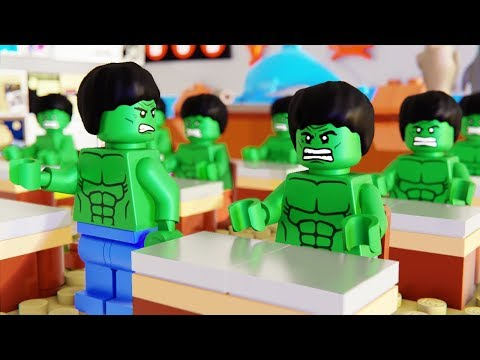 Lego Hulk School Fail