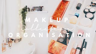 ORGANISE AND DECLUTTER MY MAKEUP COLLECTION 2018! | JustHelina