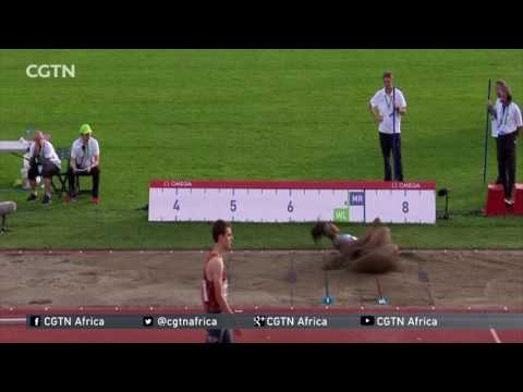 Nigerian athlete Blessing Okagbare wig falls off during long jump