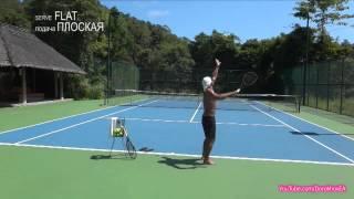Tennis Flat Serve Practice (Тренировка теннисной плоской подачи)
