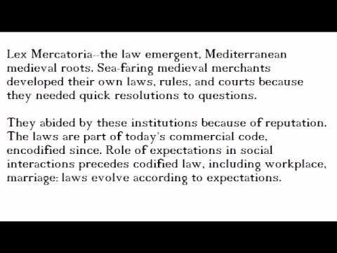 Lex Mercatoria: Emergent Market Law