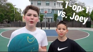 1-on-1 Basketball Game vs. Joey *INSANE ENDING*