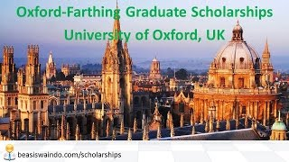 UK - University of Oxford Farthing Graduate Scholarship #20150123