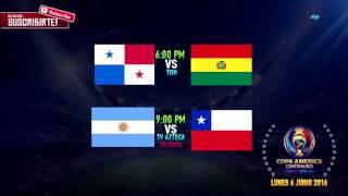 COPA AMERICA CENTENARIO - LUNES 6 JUNIO 2016 - HORARIOS - PARTIDOS