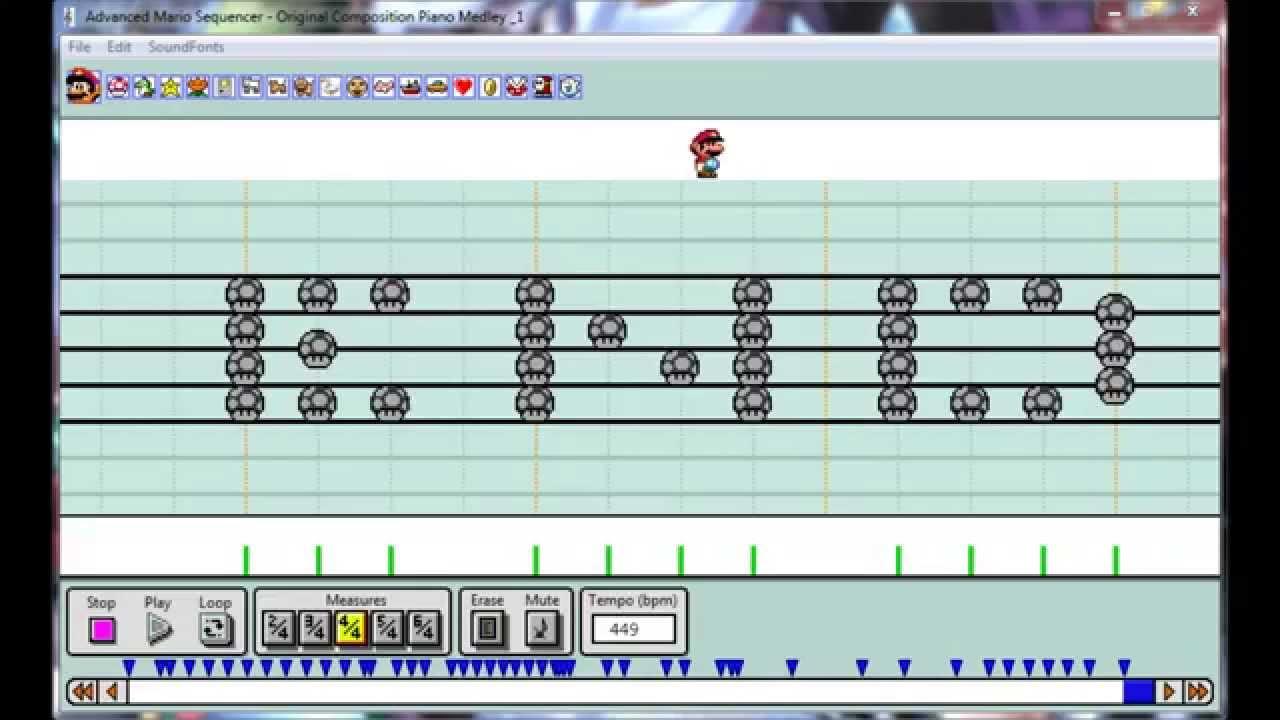 [Advanced Mario Sequencer] - Original Composition Piano Medley #1