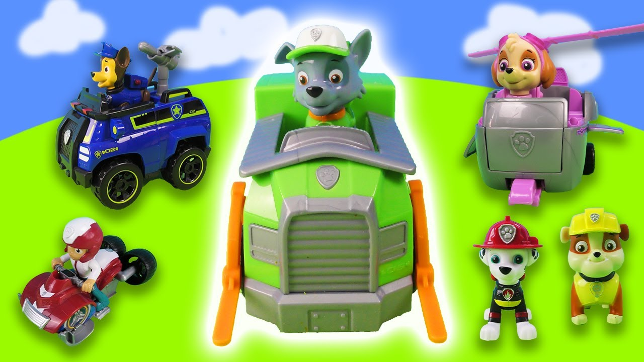 Paw Patrol: Chase, Marshall, Rubble, Rocky, Zuma and Skye Part 1