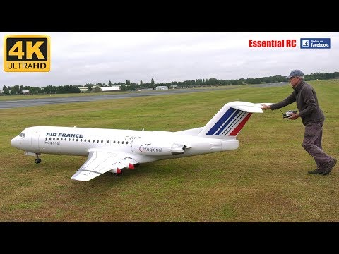 GIANT SCALE RC Fokker 70 Airliner [*UltraHD and 4K*]