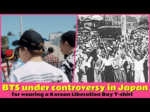 BTS under controversy in Japan for wearing a Korean Liberation Day T-shirt Mp3