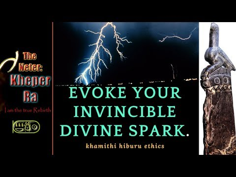 Evoking Your Invincible DIVINE SPARK as a god.