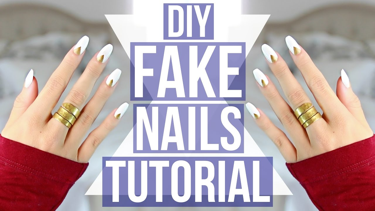 DIY: EASY Fake Nails Tutorial! - YouTube