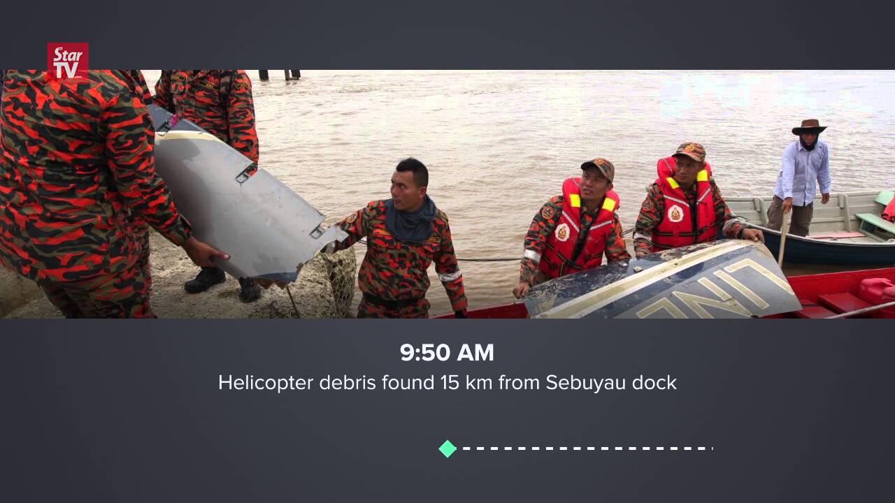 Timeline of Sebuyau Helicopter Crash