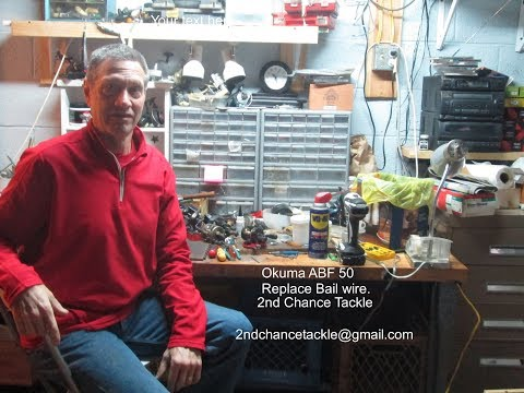 How to replace a bail wire on the Okuma ABF50 Avenger and others