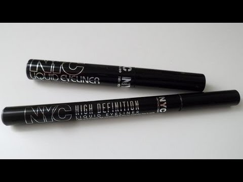 NYC High Definition Liquid Liner & Liquid Eyeliner review & swatches!