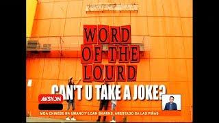 #WordOfTheLourd | CAN'T U TAKE A JOKE?