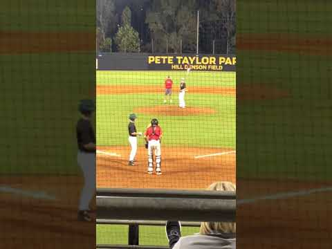 Tyler Temple pitching at USM