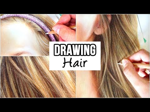 how-to-draw-realistic-hair-with-coloured-pencils- -drawing-tutorial--step-by-step