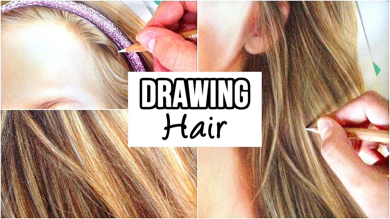 draw realistic hair