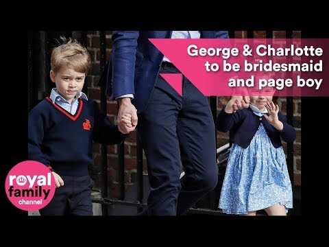 Prince Harry and Meghan reveal Prince George and Princess Charlotte as page boy and bridesmaid!
