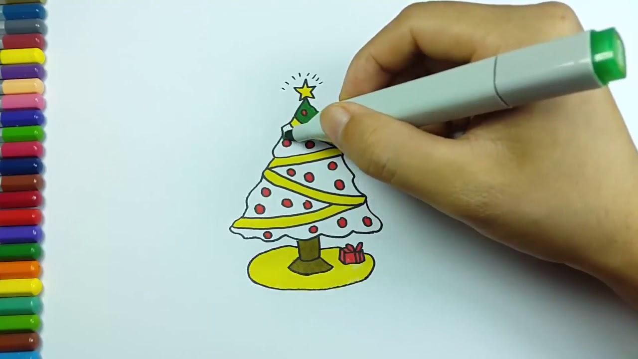 Mewarnai Pohon Natal Youtube