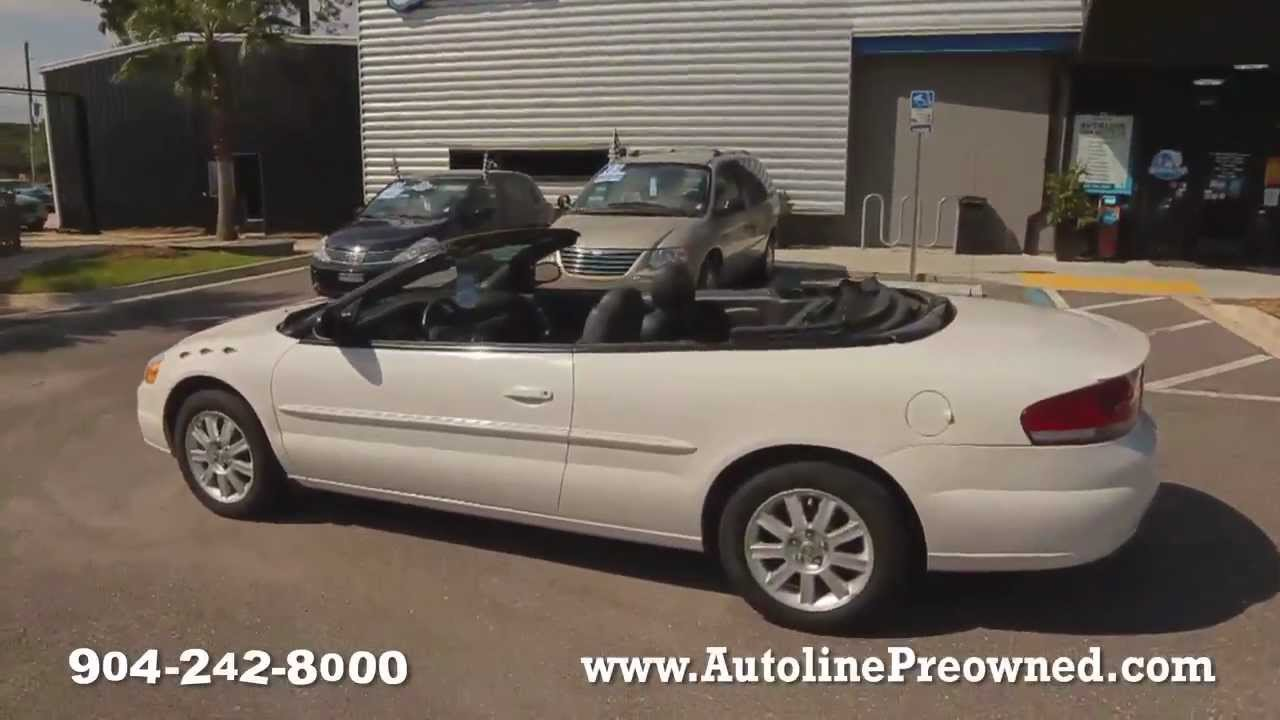 Autoline S 2005 Chrysler Sebring Conv Gtc Walk Around Review Test Drive You