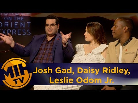 Josh Gad, Daisy Ridley, Leslie Odom Jr. Murder on the Orient Express Interview