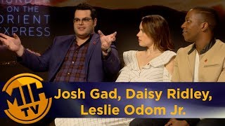 Josh Gad, Daisy Ridley, Leslie Odom Jr. Murder on the Orient Express Interview