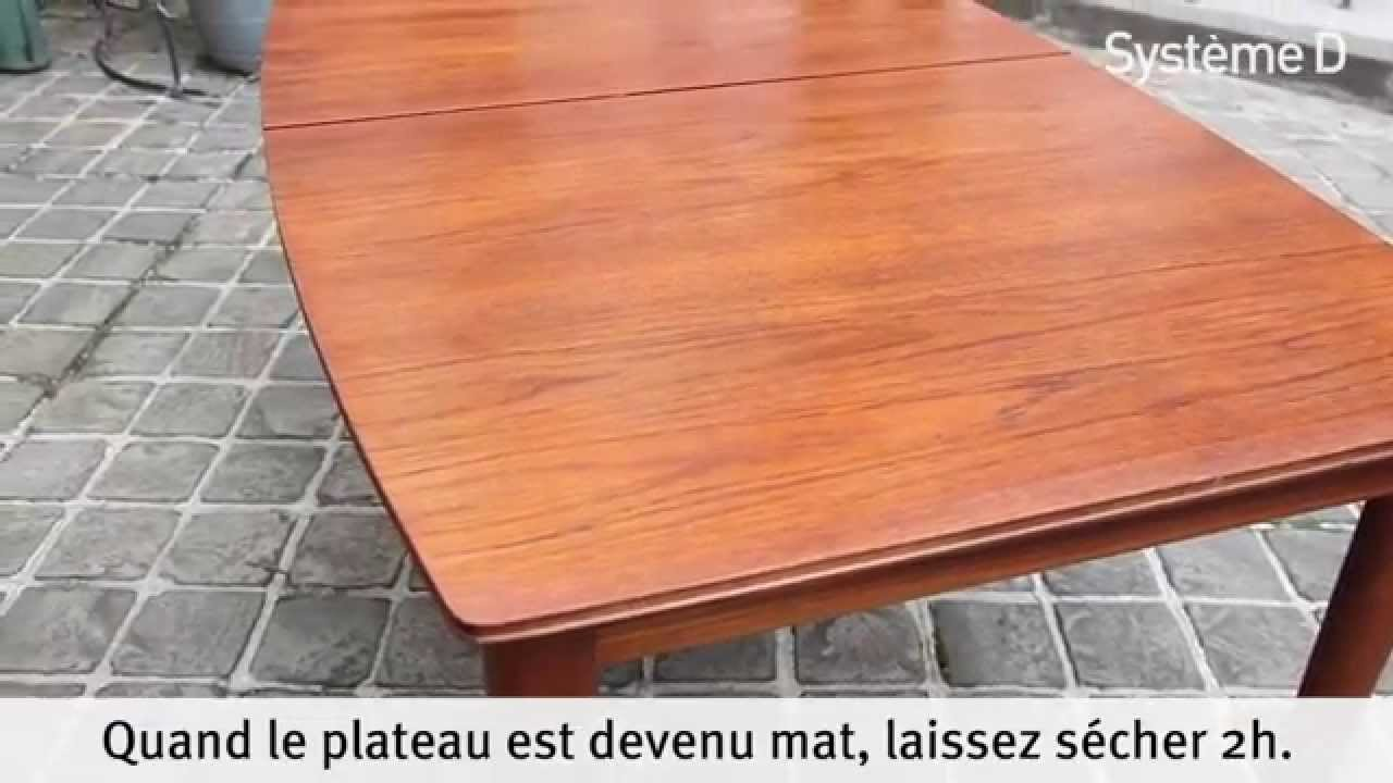 r nover une table en bois youtube. Black Bedroom Furniture Sets. Home Design Ideas