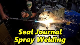 Spray Weld Repair for a Porter-Cable G8 Sander Spindle