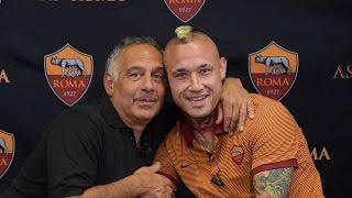 Radja Nainggolan interviews AS Roma president Jim Pallotta